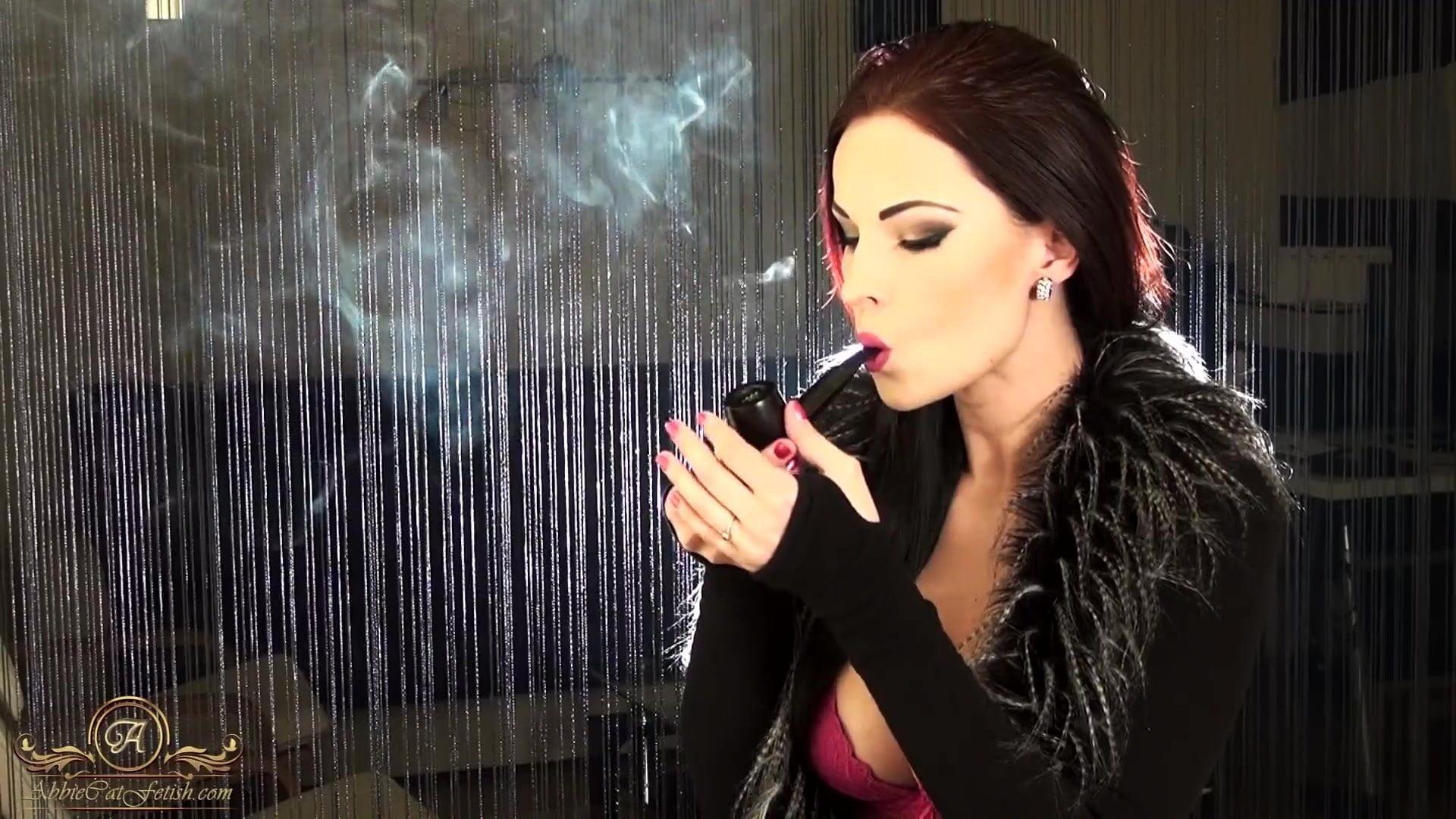 Cat smoking abbie