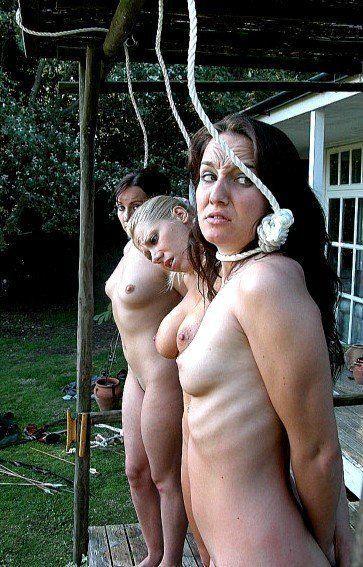 Nude girls public hangings