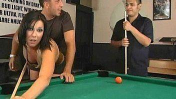 Drunk gangbang video pool table
