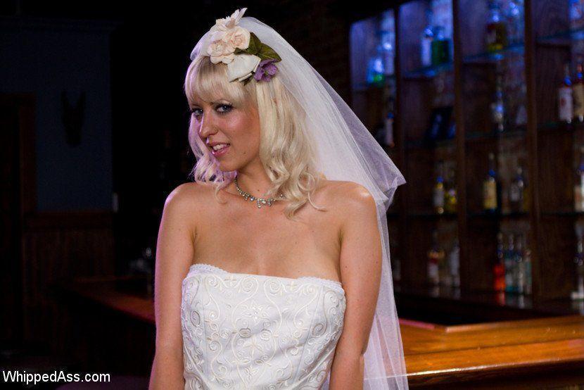 Naughty bride upskirts