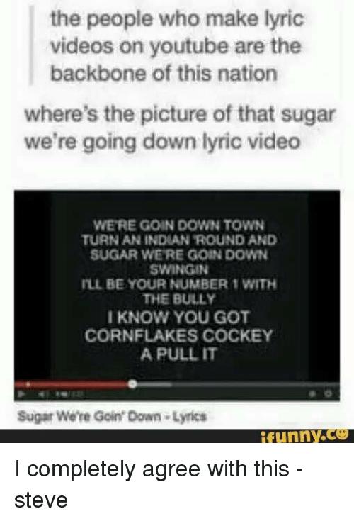 Lyrics to sugar we re goin down swinging