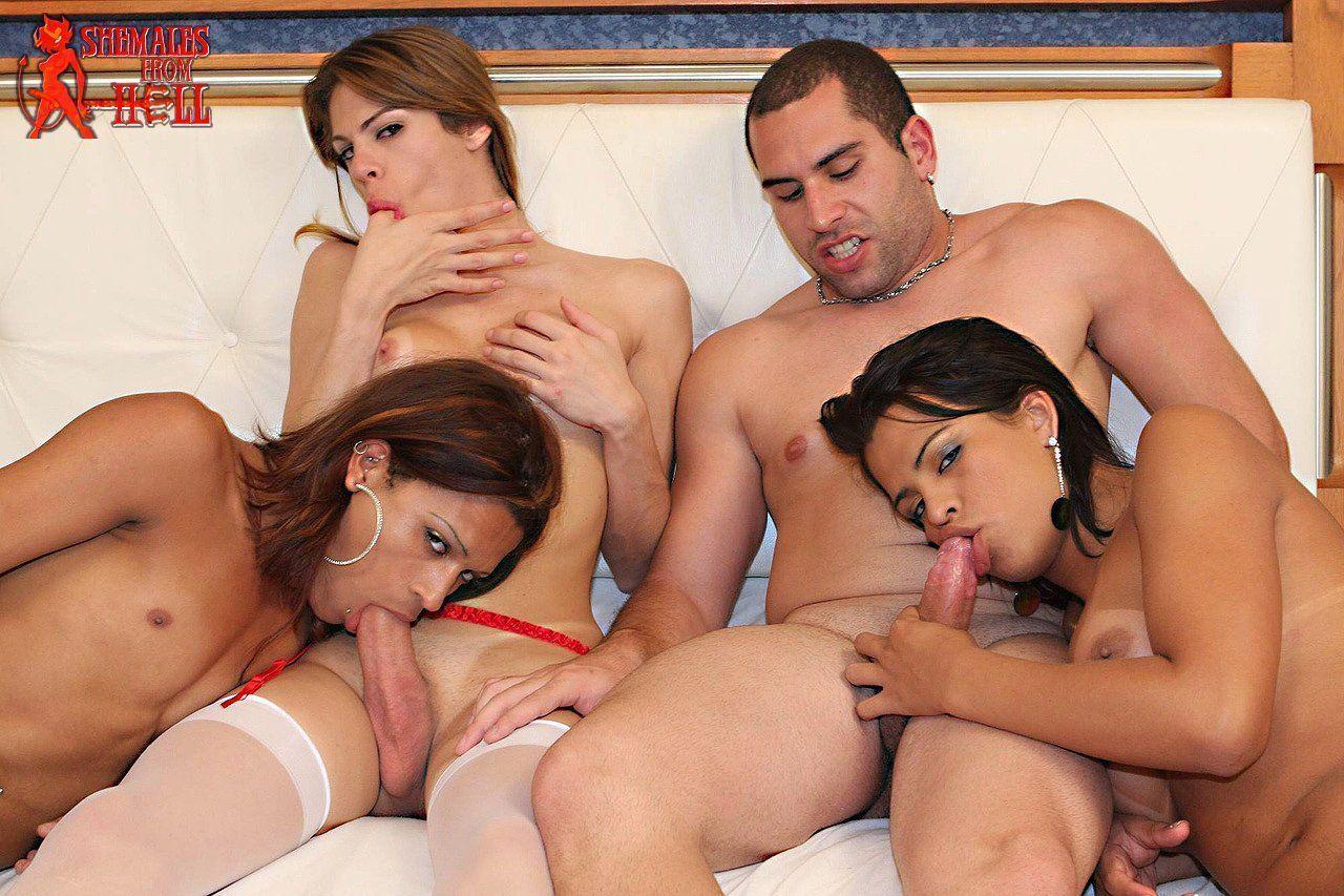 Shemale tranny sex orgy com