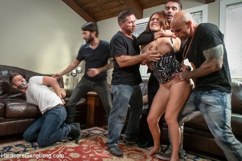 Young B. reccomend Wife gang bang husband watch
