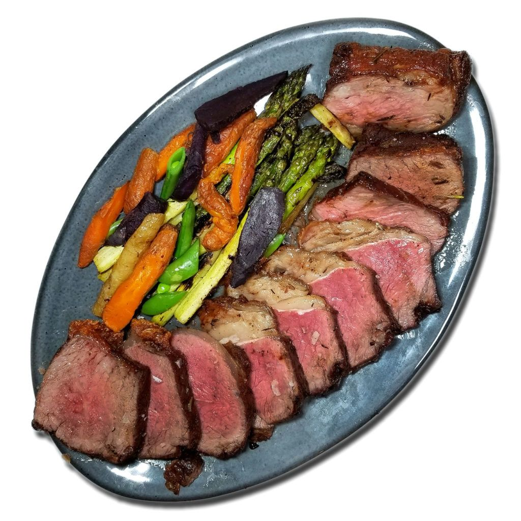 Astro reccomend Manhattan strip steak