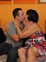 best of Pictures black men Granny kissing