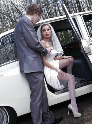 Cheating brides in pantyhose