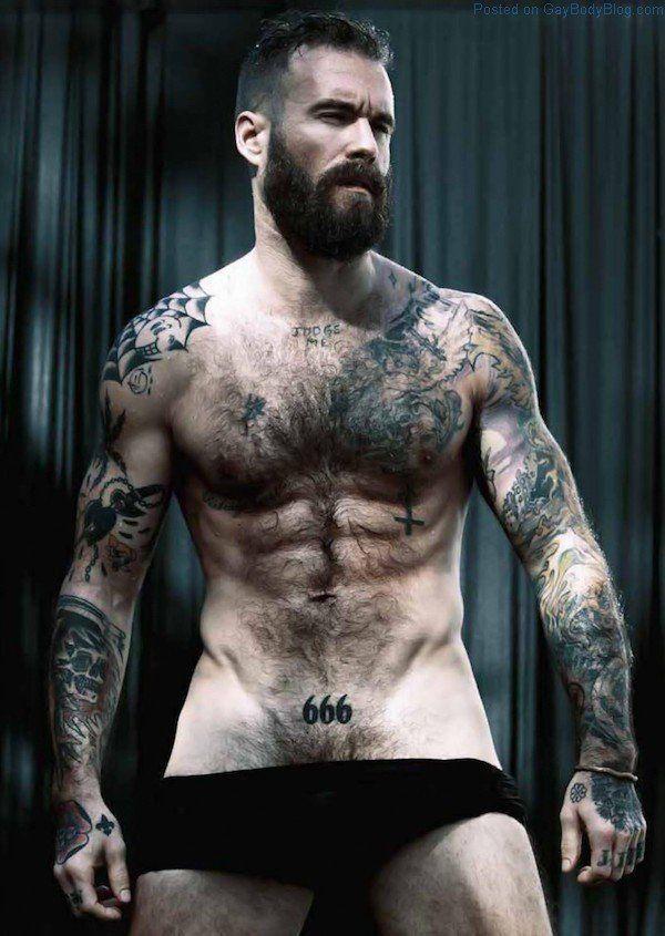 Naked tattooed men hot Nude Photo