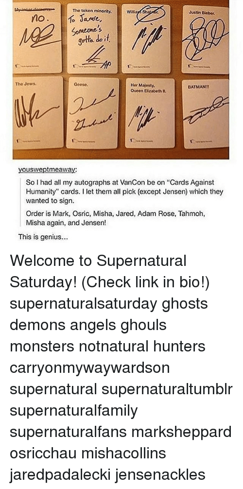 Supernatural cards against humanity