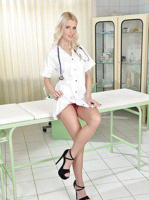 Upskirt nurse fuck