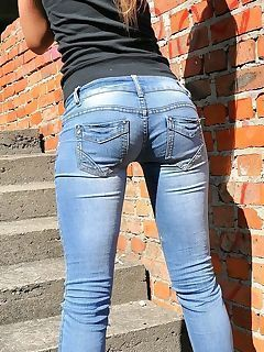 Adult butt jeans