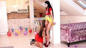 Snow C. reccomend Hotties from hell lesbian shower