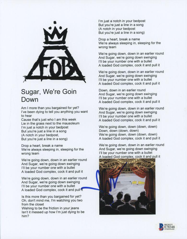 Frankenstein reccomend Lyrics to sugar we re goin down swinging