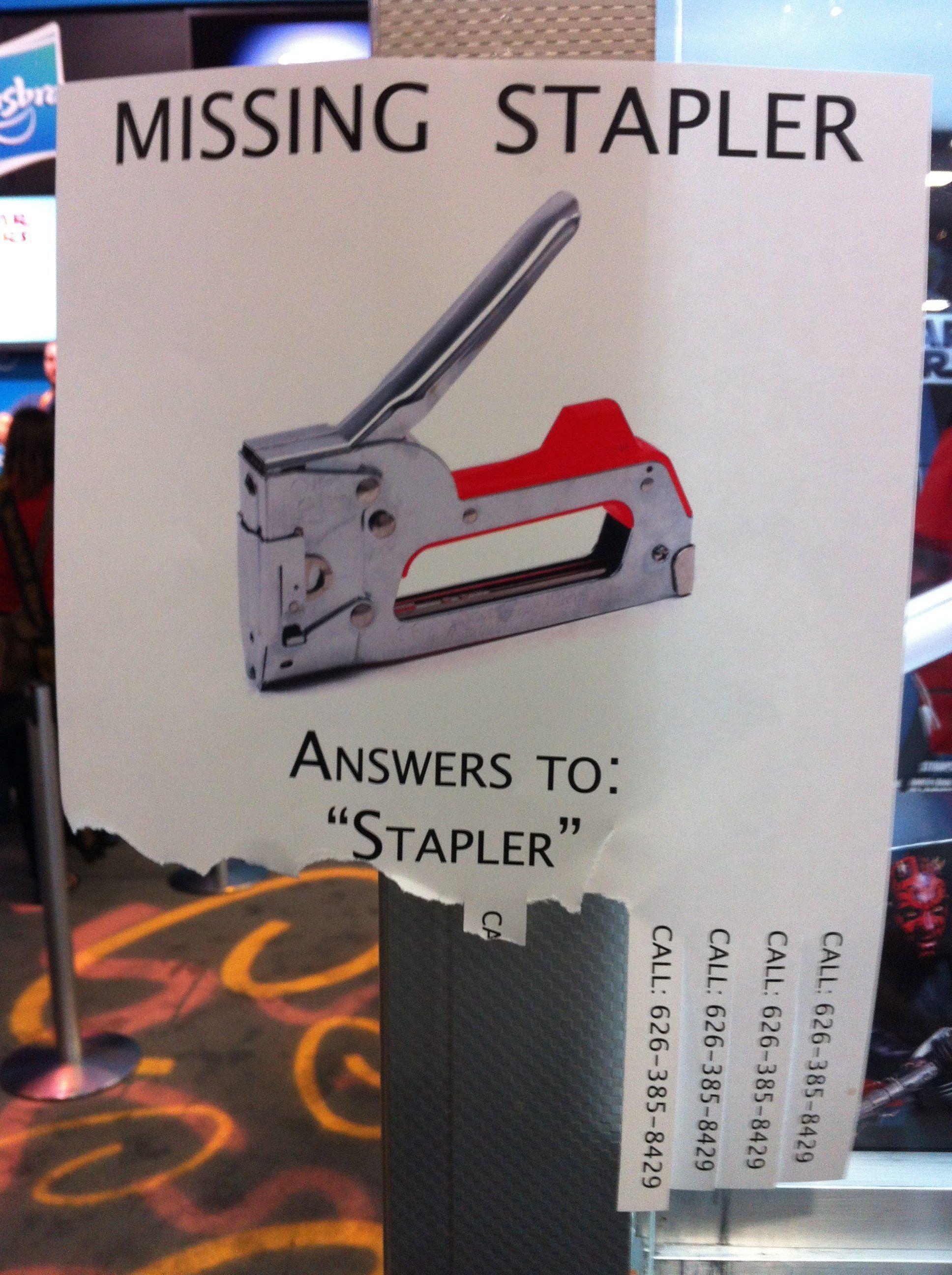 Tarzan reccomend Joke about a stapler