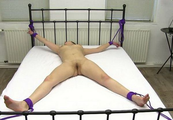 General reccomend Milfs tied spreadeagled to bed