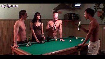 Gorgeous babe Sofia Gucci fucks on pool table.