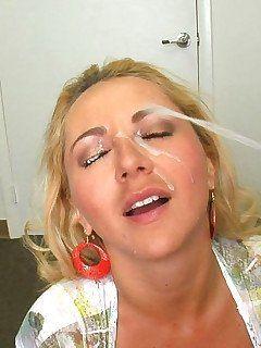 Tootsie reccomend Bikini facials cumshot thumbs