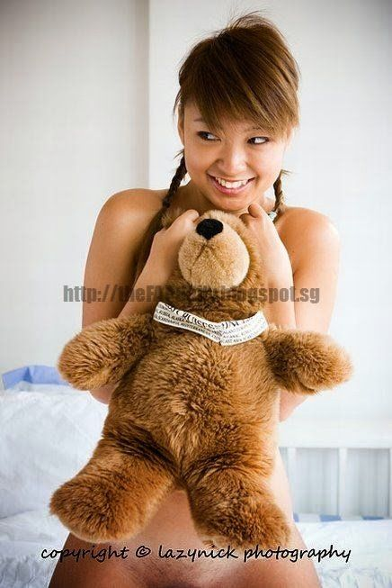 Sloth with naked girl