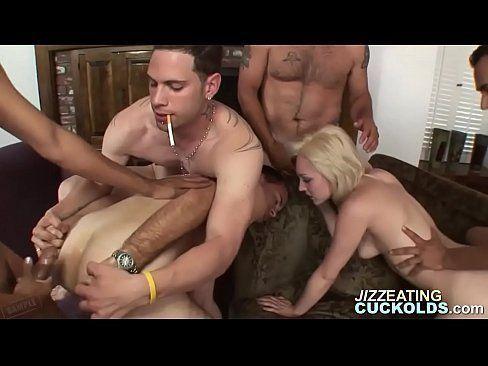 Shift reccomend Cuckold creampie eating gang bang
