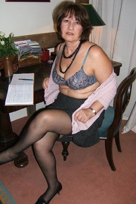 Hot in sex stocking wife
