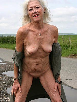Topless granny What a