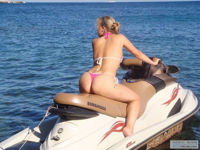 Nude girl on seadoo