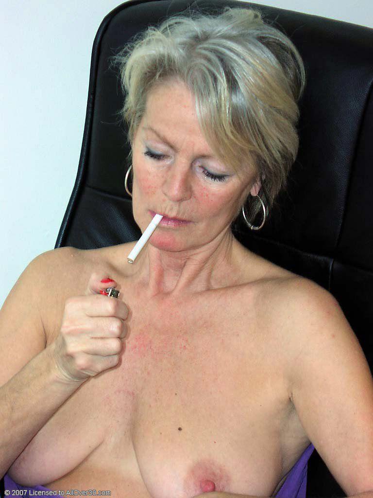 Old women smoking cigarettes