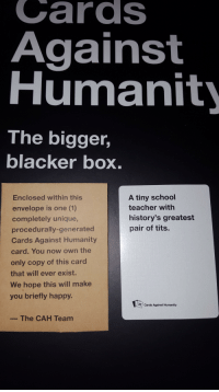 Black L. recomended against humanity cards Supernatural